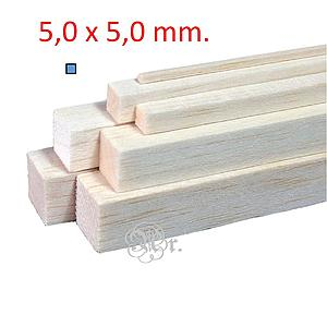 Liston Balsa 5*5*1000 Mm.