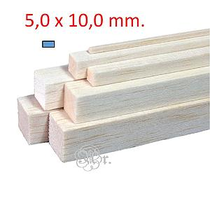 Liston Balsa 5*10*1000 Mm.